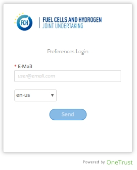 FCH Preferences center login page